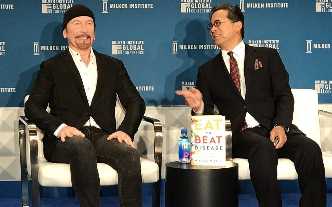 Dr. William Li and U2 Guitarist The Edge on CNBC